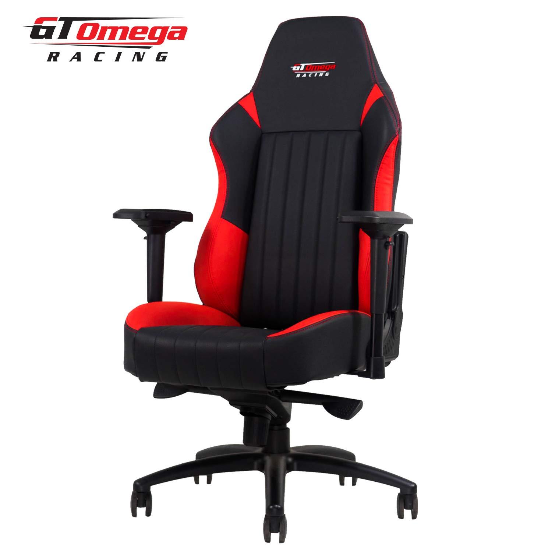 GT Omega Racing EVO XL - Silla de Oficina, Deportiva, Cuero Negro y Rojo: Amazon.es: Hogar
