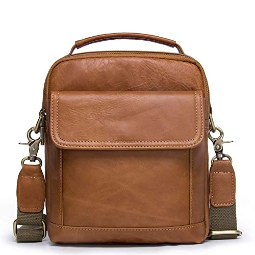 KAKTT Funda vertical para hombres Satchel Leather Belt Pouch ...