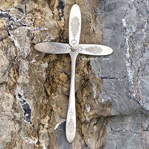 Artesian Silverplate Spoon Decorative Hanging Wall Cross -