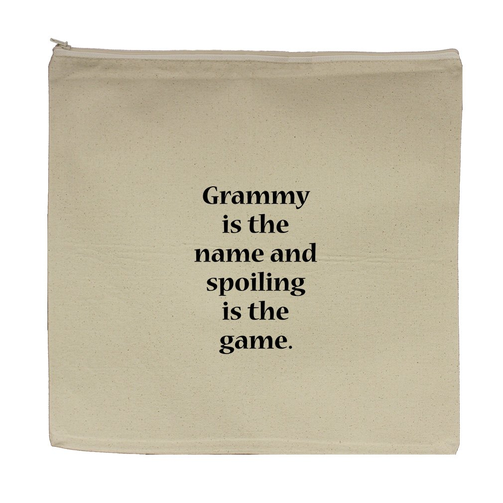 Grammy The Name Spoiling The Game #1 Canvas Zipper Tote Bag Makeup Bag