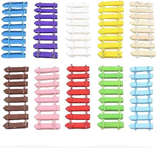 Stonges 20 Unids Mini Madera Valla de Estacas Miniatura de Hadas Jardín Micro-Paisaje Kits de Accesorios Jardín de la Casa Decoración Al Aire Libre Adornos de Macetas Bonsai DIY Artesanía Decoración: Amazon.es: