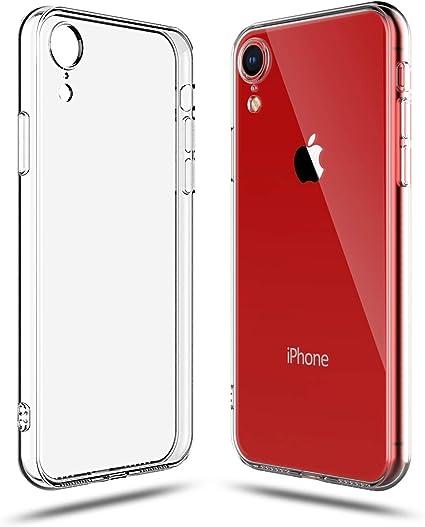 Shamo's Cover Compatibile con iPhone XR Trasparente Custodia Gel Morbida Silicone Sottile TPU Ultra Leggera e Chiaro