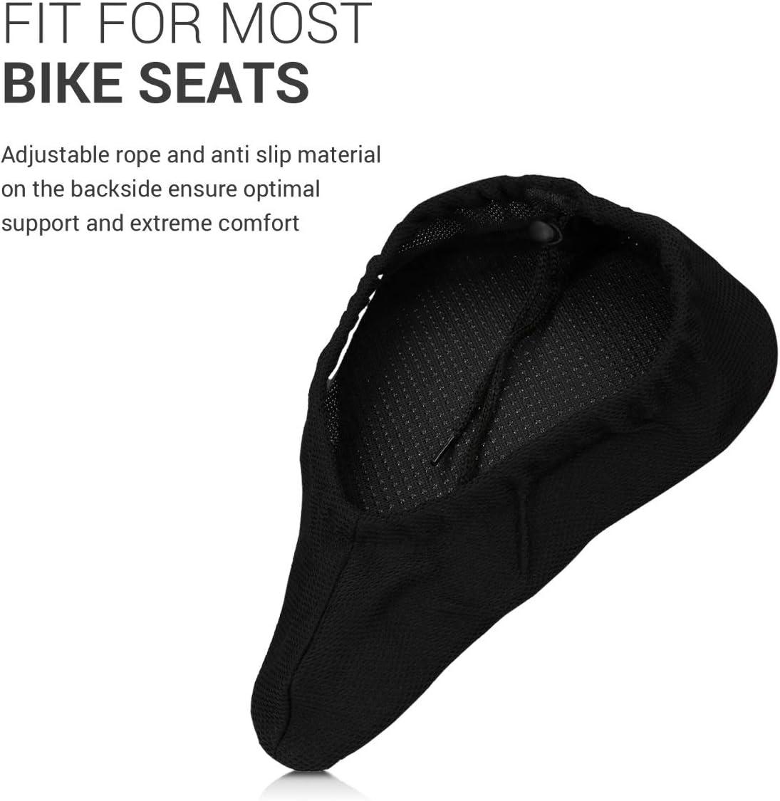 YFSEOS Upgrade Nueva Funda de Asiento de Bicicleta de Gel Transpirable con Almohadillas Antideslizantes Coj/ín de Sill/ín de Bicicleta Extra Suave y C/ómodo