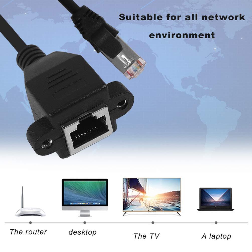 C/âble dextension de r/éseau LAN Ethernet M/âle /à femelle RJ45 pour ordinateur portable pour PC Noir