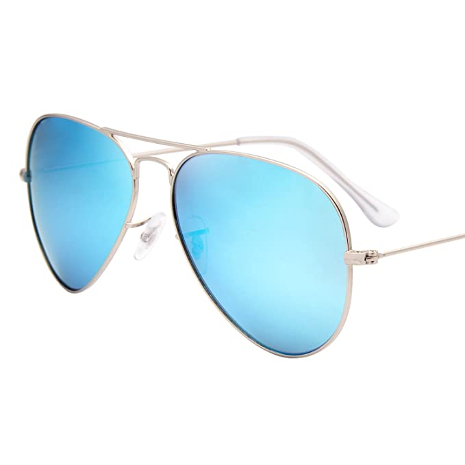 fa83b605c3 Jardin d amour Sunglasses for Men Women Polarized Classic Aviator Coated  Lens Glasses JA3140 Blue