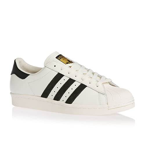 Unisex Adidas Originals Superstar Sport in pelle Bianco Retro Sneaker UK 6