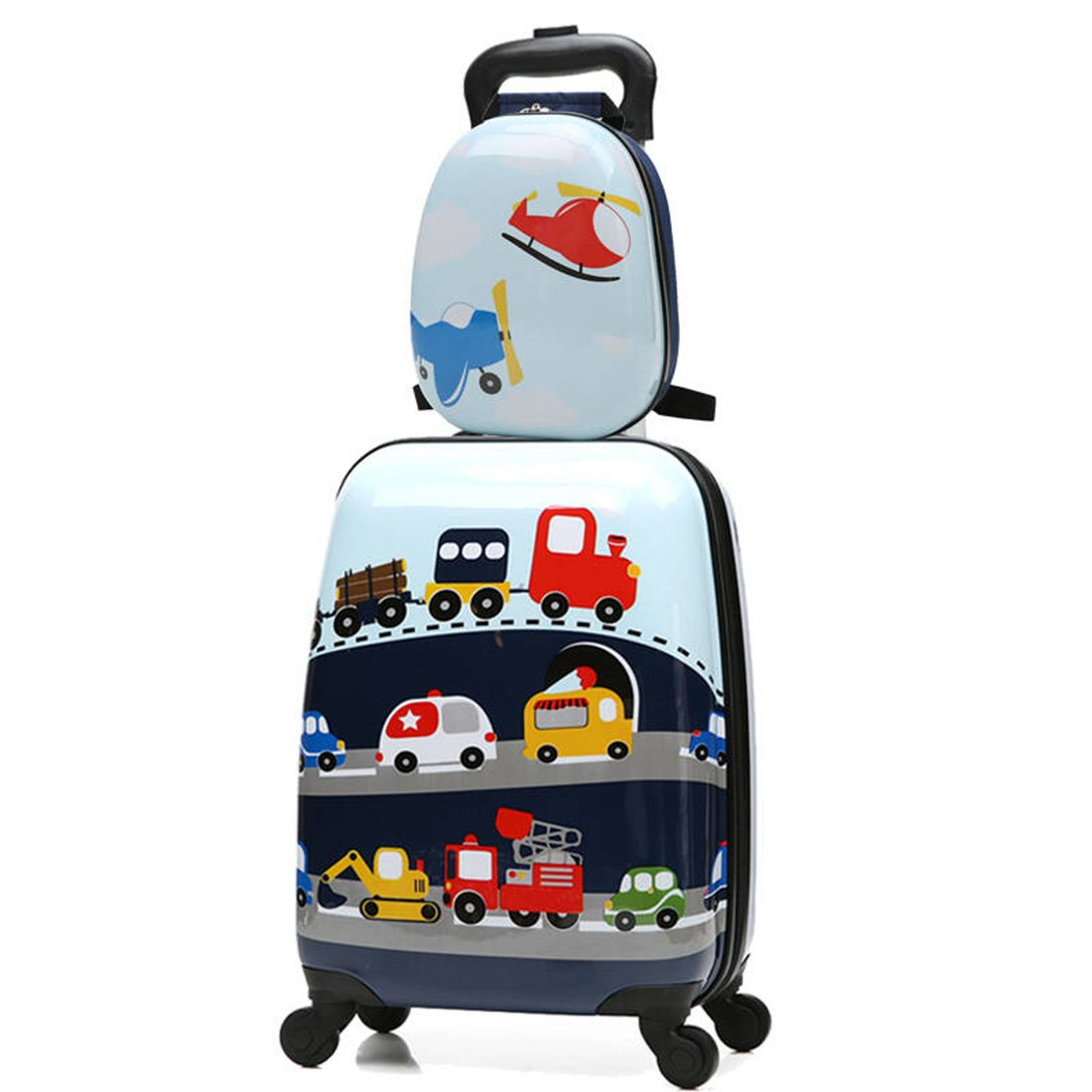 MOREFUN Travel Suitcase Kids 2 Pc Wheels Luggage Set 18'' Carry on Luggage and 13'' Backpack Car by Morefun Trading (Image #1)