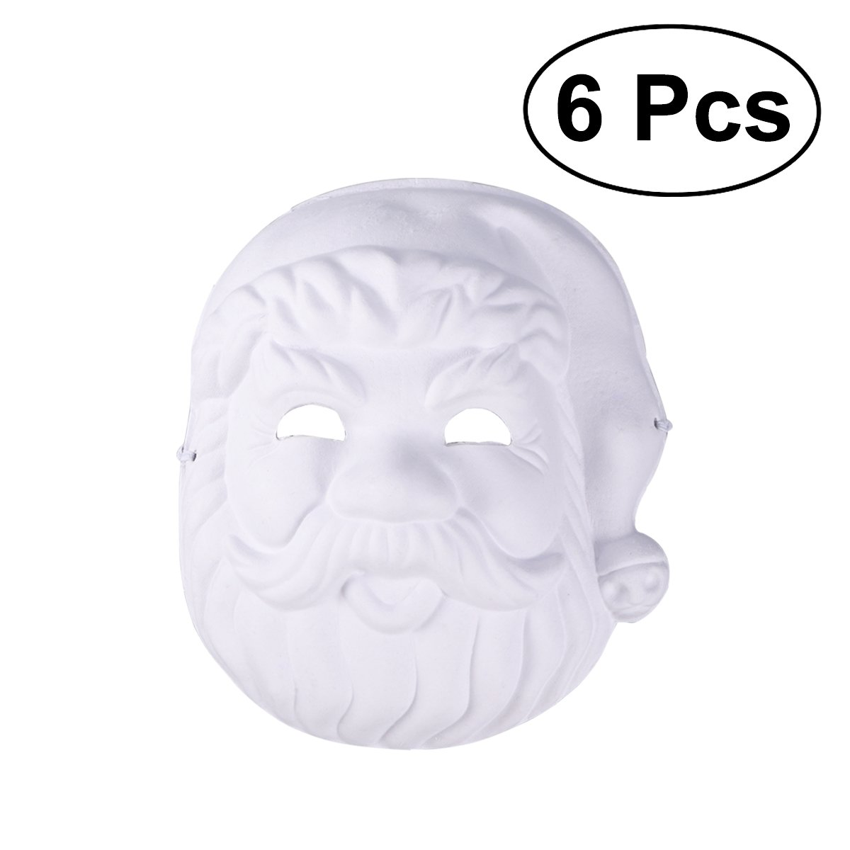 TINKSKY 6pcs Christmas Painting Mask Blank Mask for DIY Paint Christmas Santa