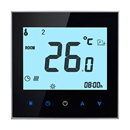 Thermostat WIFI Smart,BECA Control LCD Touch Screen 16A Electric Heating Programmable Room Thermostat (