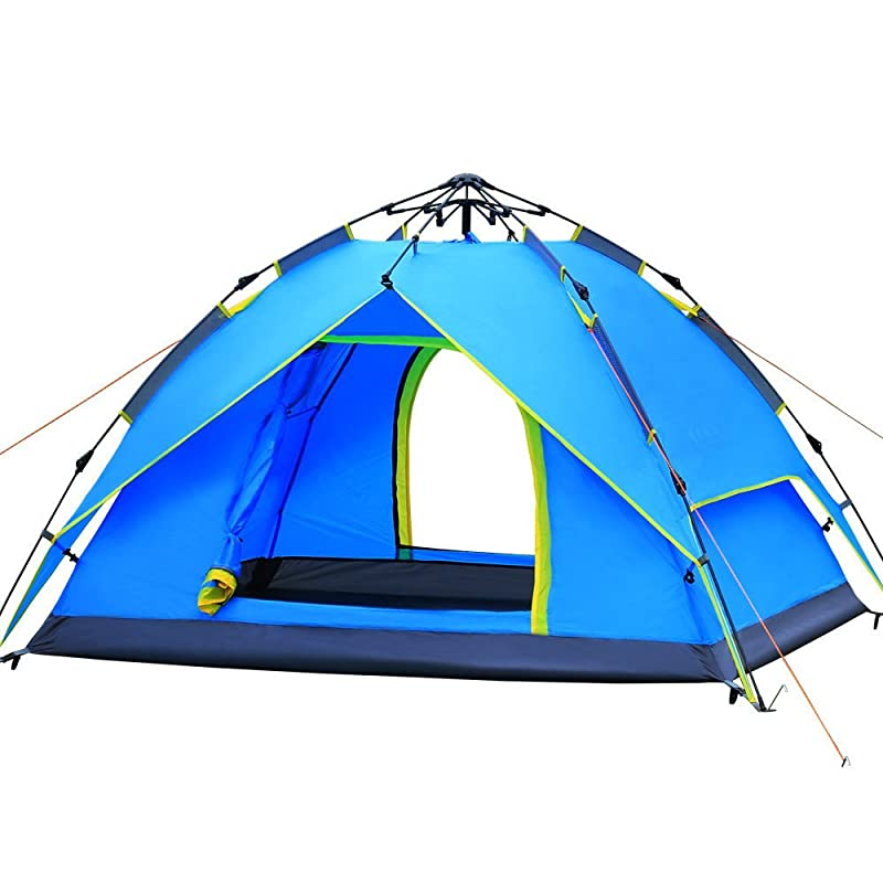 AYAMAYA Camping Tents [4 Styles] – 3-4 Person Hydraulic Automatic Quick Setup Tent / 3-4 People Easy Pop Up Dome Tent / 4-6 Man Instant Set Up Cabin Tent / 3-4 Double Layer Waterproof Tents for Family