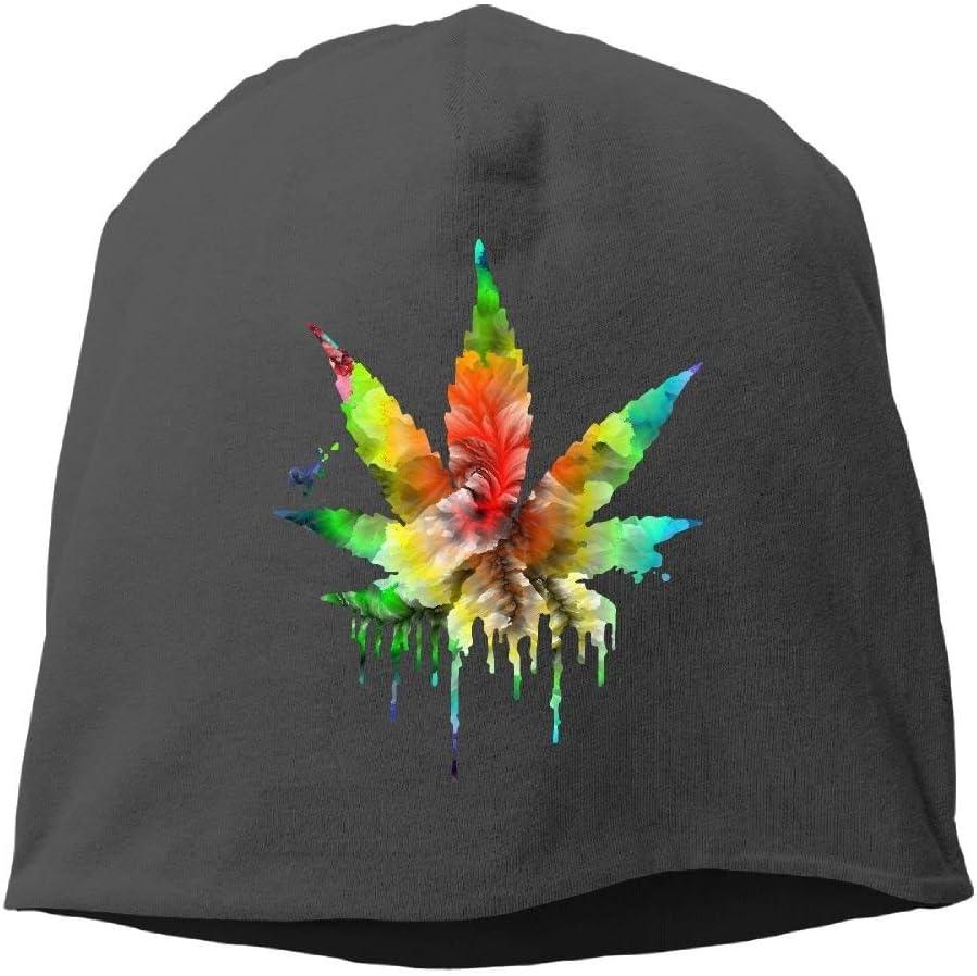 N/A Gorro de Invierno Na Rasta con diseño de Hojas de Cannabis y Calavera, de Punto cálido, Resistente