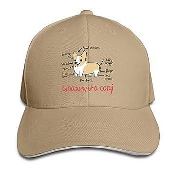 Anatomía de una Gorra de Corgi Unisex Sombrero de algodón de ...
