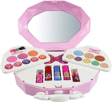 Tsebess Kit de Maquillaje para Niñas - Juego de Maquillaje Lavable Juguetes Niñas 2 3 4 5 6 Años: Amazon.es: Juguetes y juegos