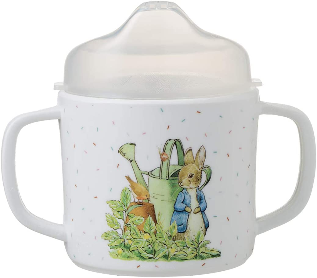 Tazza a doppio manico con cappuccio rimovibile Peter Rabbit Petit Jour Paris con base antiscivolo!