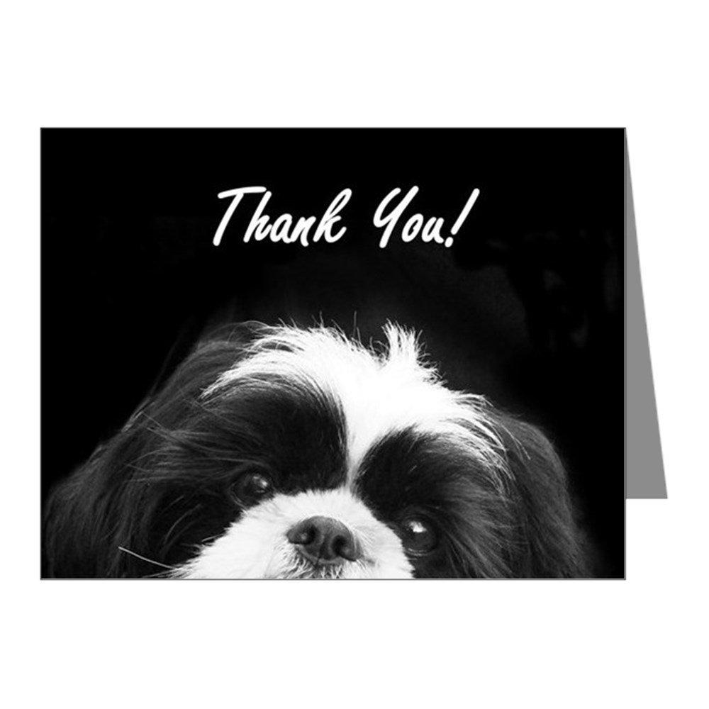 Amazon.com : CafePress - Thank You Shih Tzu Note Cards - Blank Note ...