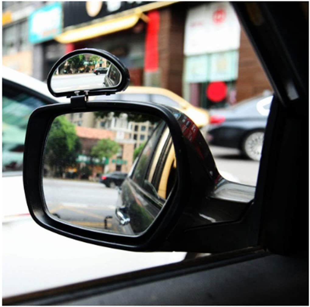 Car Wide Angle Rear View Mirror Blind Spot Rearview Auxiliary Mirror Black