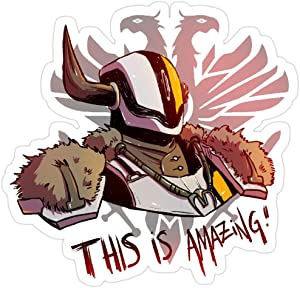Jess-Sha Store 3 PCs Stickers This is Amazing!, Lord shaxx Sticker for Laptop, Phone, Cars, Vinyl Funny Stickers Decal for Laptops, Guitar, Fridge