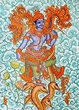 Bhagawan Krishna - Kerala Murali Warli Painting