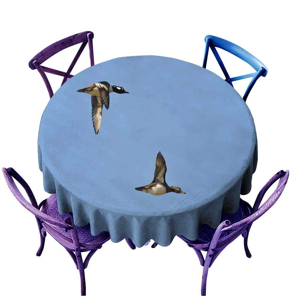 color01 47  Round(120CM) AndyTours Fashions Table Cloth,Pair of Kelp Geese,High-end Durable Creative Home,70 INCH