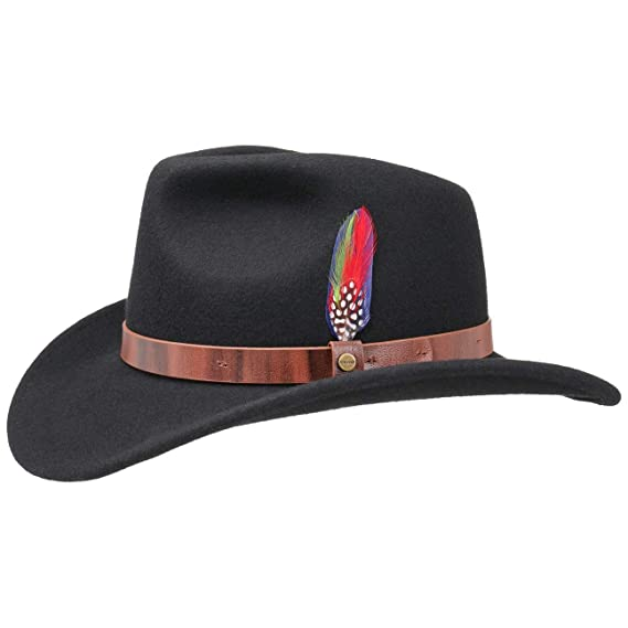 89a9ea9a824 Stetson Oklahoma Wool Felt Western Hat Outdoor  Amazon.co.uk  Clothing