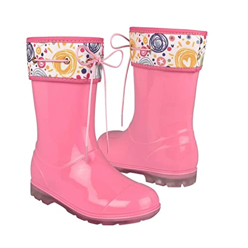 6d29e28d2381e TOP MODA Botas DE Lluvia para NIÑA 7525-C Rosa Pastel  Amazon.com.mx ...