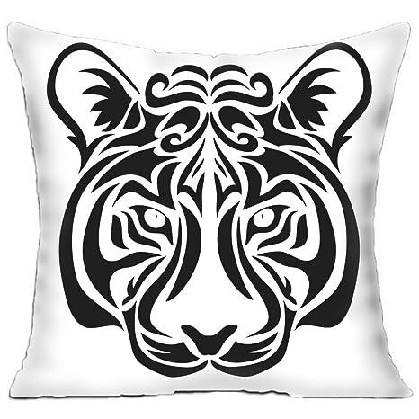KITCHOR Custom Animals Tribal Tattoo Tiger - Funda de cojín ...