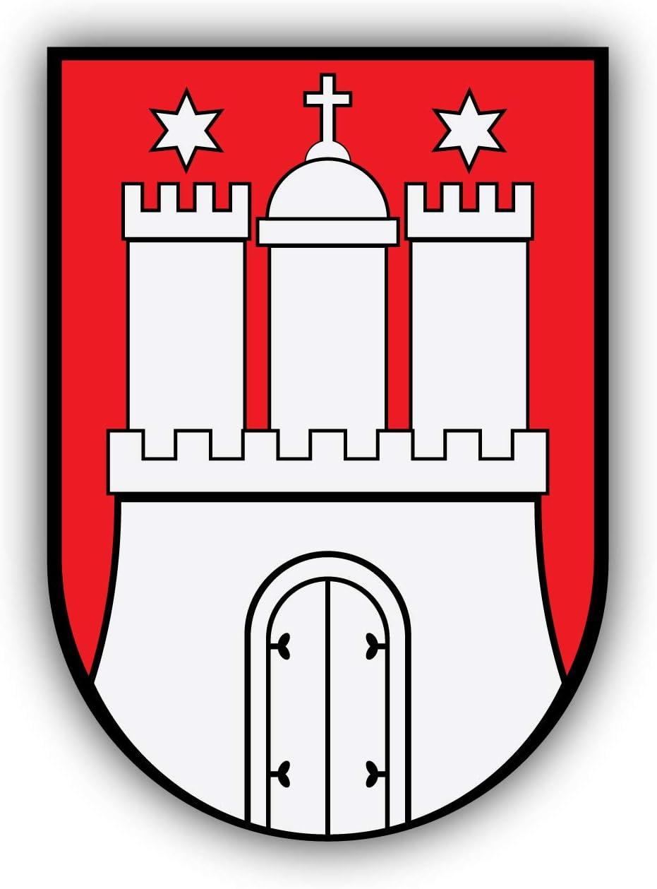 Self-Adhesive Sticker Car Window Bumper Vinyl Decal Pegatina Engomada para del Coche Hamburg City Coat of Arms Germany Emblem