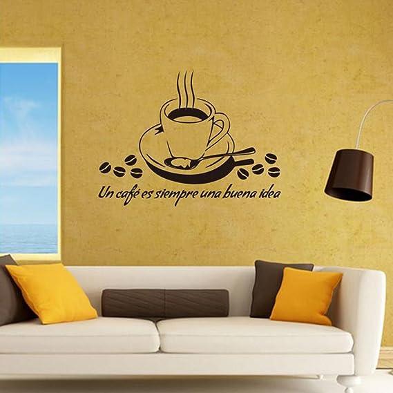 Wa Etiqueta Adhesiva de Pared de Vinilo Diseño Decorativo de Linda para Cafetería, Restaurante, Cocina, Sala de Estar: Amazon.es: Hogar