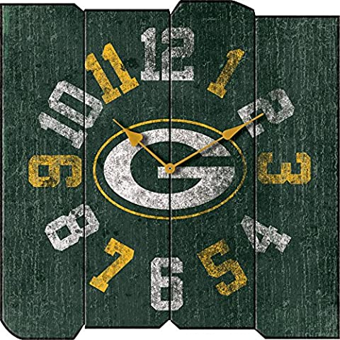 Imperial Officially Licensed NFL Merchandise: Vintage Square Clock, Green Bay Packers - Imperial International Green