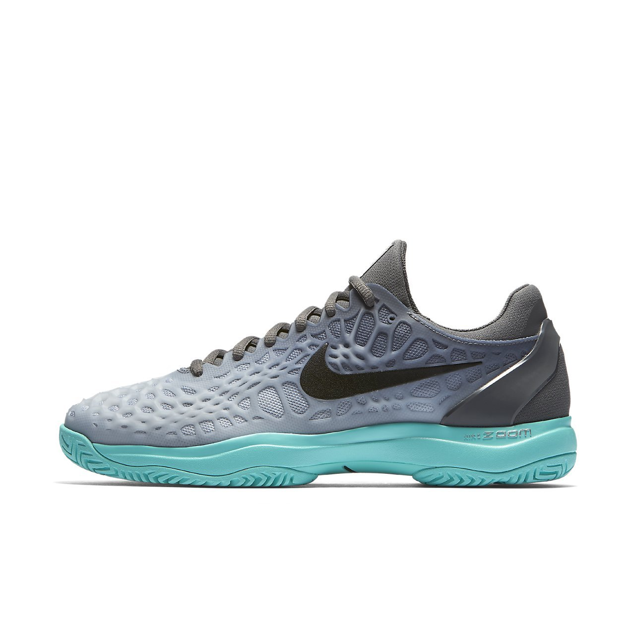 Nike Mens Zoom Cage 3 Tennis Shoes B00BIVROUO 11.5 M US|Dark Grey/Black/Aurora Green/Wolf Grey