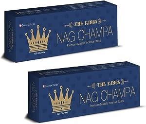 Garden Fresh : Premium Nag Champa Incense Sticks | 2 Packs x 100 Grams | Natural & Hand Rolled in Bangalore, India
