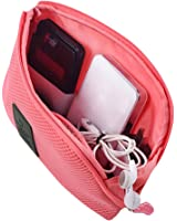 Happy Hours - Creative Shockproof Digital Storage Bag Pouch / Multifunction Makeup Smartphone Charger Headset Data Cable Case for Travel and Daily(Red)