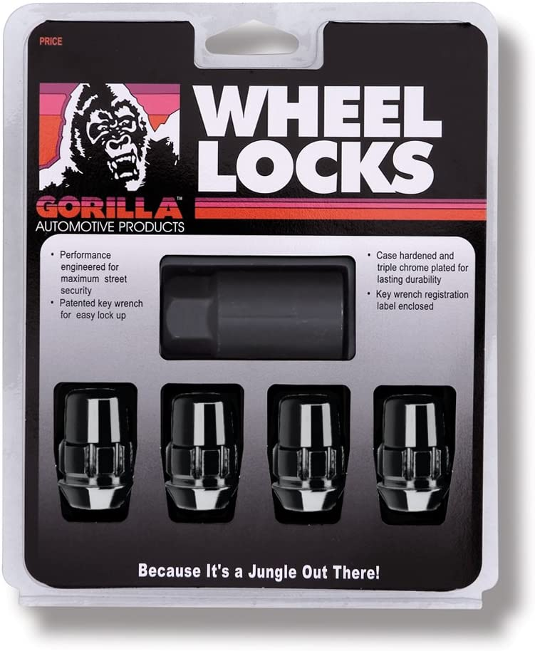 "Gorilla Automotive 71681NBC Acorn Black Chrome Wheel Locks (1/2"" Thread Size)"