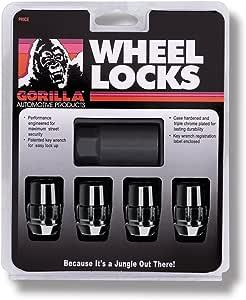 Gorilla Automotive 71631NBC Acorn Black Chrome Wheel Locks (12mm x 1.50 Thread Size) Pack of 4