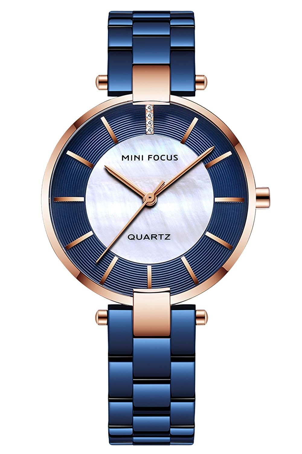 Gute Womens Watch Quartz Watch with Stainless Steel Bracelets Casual Fashion Analog Wrist Watch for Ladies