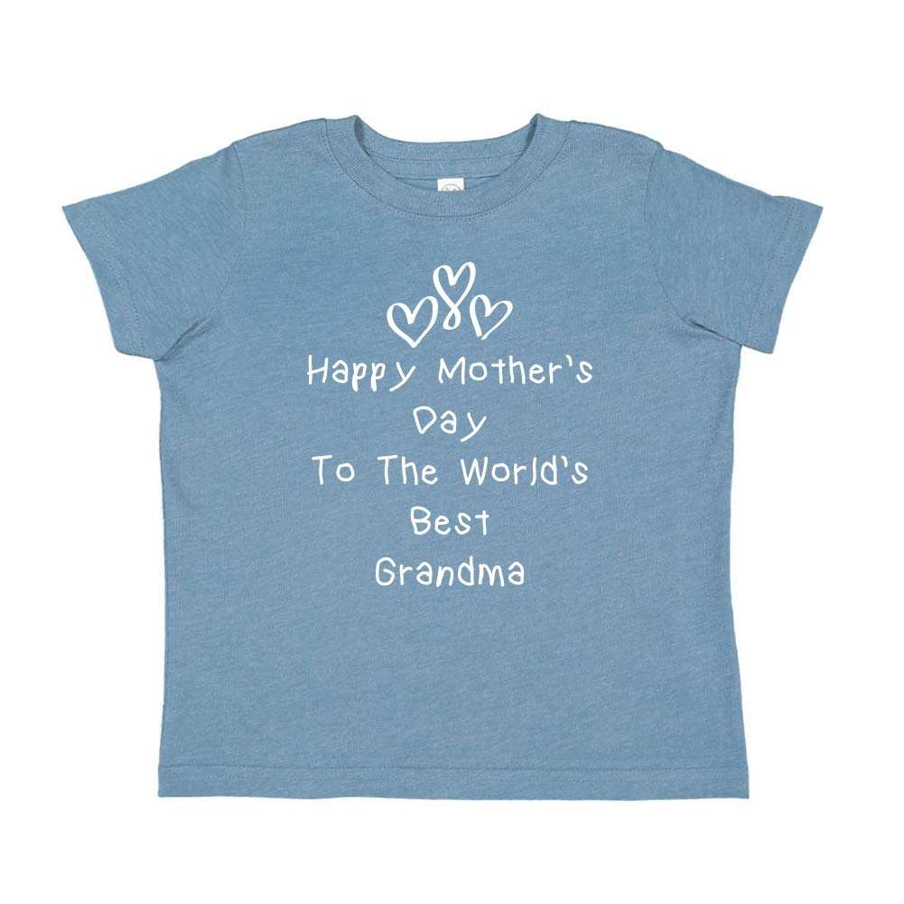 Happy Mothers Day to The Worlds Best Grandma Toddler//Kids Short Sleeve T-Shirt