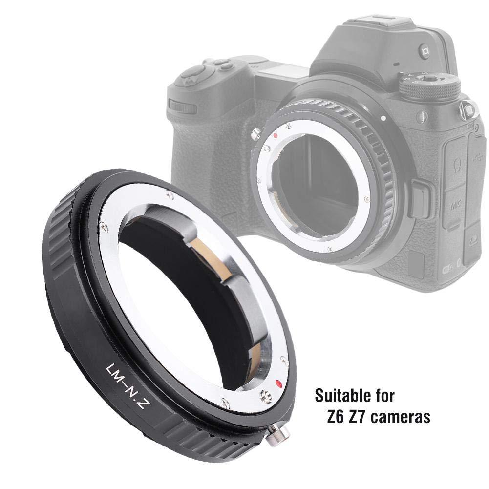 VBESTLIFE LM-NZ Anello Adattatore per Obiettivo Leica M Mount per Nikon Z Mount Z6 Z7 Camera Adattatore Obiettivo in Lega di Alluminio Nero