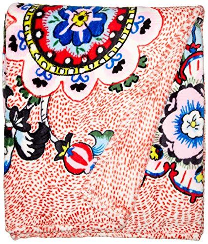 - Vera Bradley Plush Throw Blanket, Fleece, Stitched Flowers