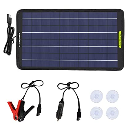 Amazon.com: ECO-WORTHY - Panel solar portátil de 12 V, 5 W ...