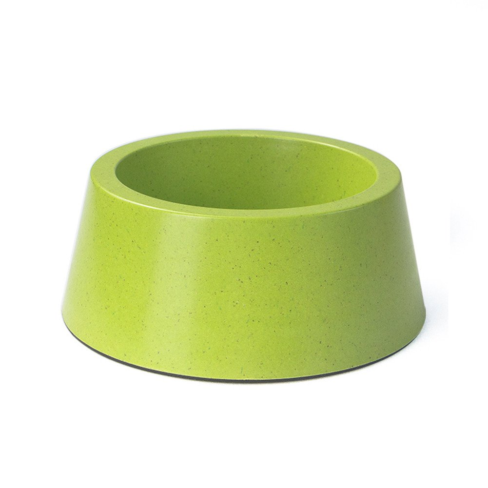 Forever-You Dog Bowl Dog Pot cat Bowl Double Bowl Small pet Stainless Steel Drinking Water Bowl, Green