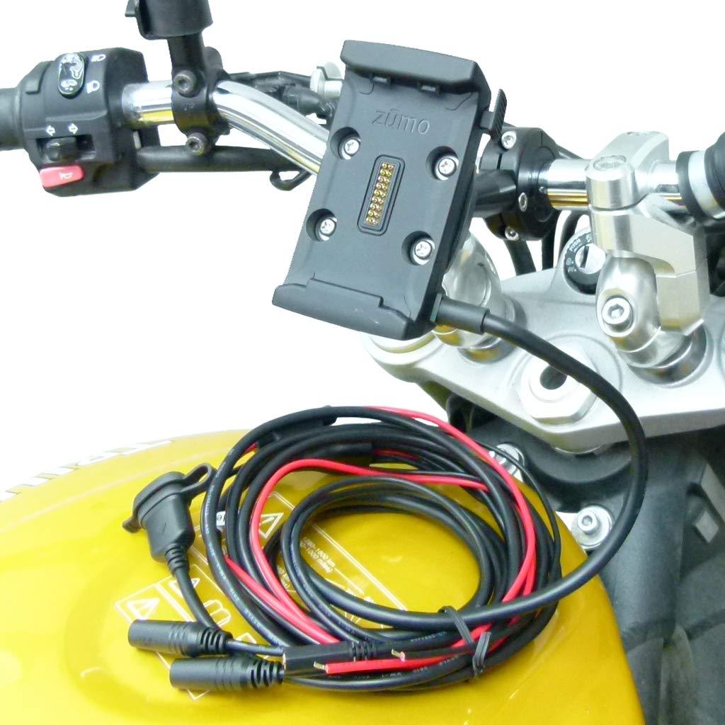 Hardwire Powered 9cm Extended Bike Motorcycle Mount for Garmin Zumo 590 595