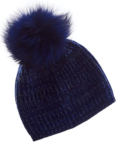 15b88e3234e5f Image Unavailable. Image not available for. Color  Portolano Womens  Cashmere Hat with Pom