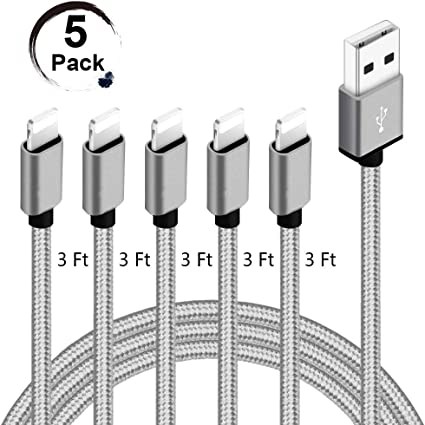 Amazon.com: Live2Pedal Fast iPhone Charger Cable 5 Pack ...