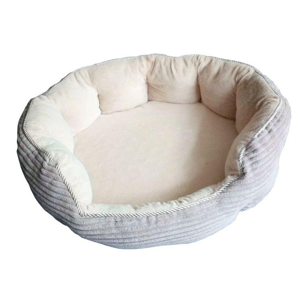 A Dixinla Pet Bed Round Autumn and Winter Warm pet nest Short Plush pp Cotton 65  20cm