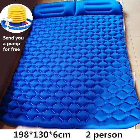 HUILIN Colchonetas para Acampar Tent Air Cojín Inflable Doble Playa de Picnic para Dos Personas Dos Mantas de Tela Escocesa Cojín de bebé Descanso en casa Colchón Suave, 2-con Bomba: Amazon.es: Hogar