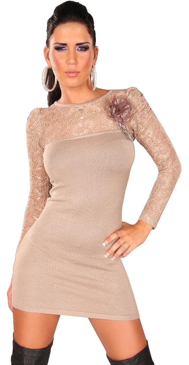 Koucla - Jersey para Mujer con Punta verzierung & Corbata Flor ...