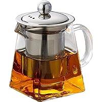 UPKOCH 2 adet Cam Çaydanlık Şeffaf Paslanmaz Çelik Süzgeç Isıya Dayanıklı Gevşek Yapraklı Su Isıtıcısı Çaydanlık Ev…