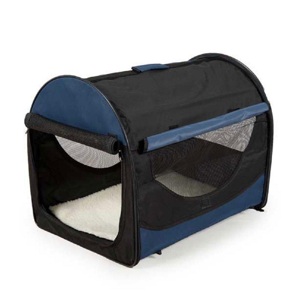 Facile pieghevole Pet Crate (Medium W70 x D51 x h58.5 cm, blu navy)
