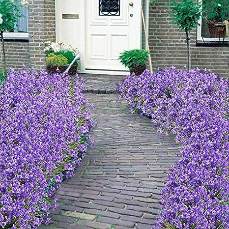 Mrinb Flores Artificiales Falsas, 4 Paquetes para Exteriores, Resistente a los Rayos UV, arbustos Vegetales, macetas Colgantes para Interior y Exterior, decoración para el hogar y el jardín