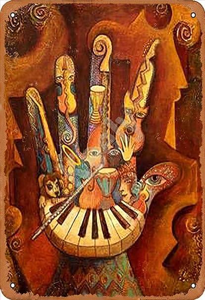 Drummer Targhe Cartello Latta Targa in Metallo Retro Poster Arte Decorazione della Parete per Bar Pub Cafe